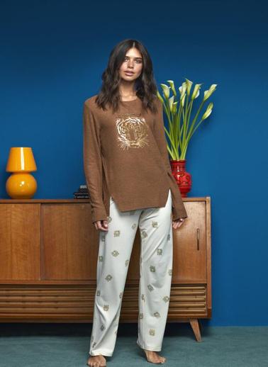 Penye Mood 8623 Pijama Takım Renkli
